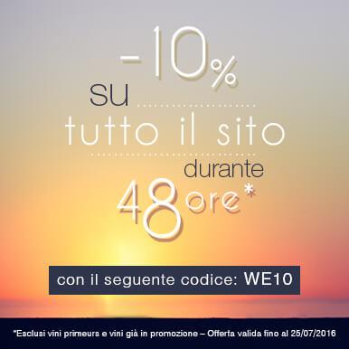 -10% su tutto il sito!