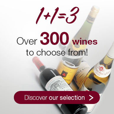 1+1=3: over 300 wines to choose from!