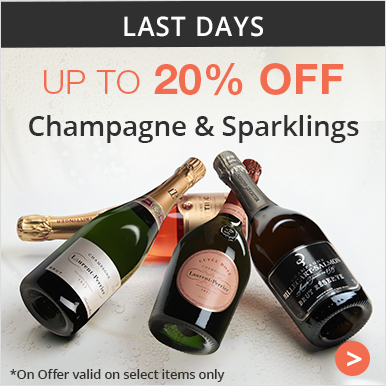 Up to 20% champagne and Sparklings