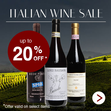 Italian wine sale up to 20% off