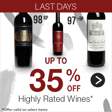 Up to 35% off Highly Rated Wines