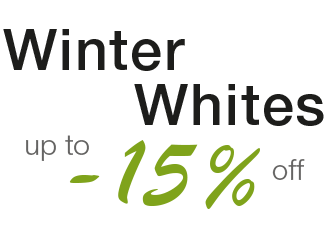 Winter Whites: up to -15% off from the first case purchased
