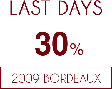 up to 30% off 2009 Bordeaux