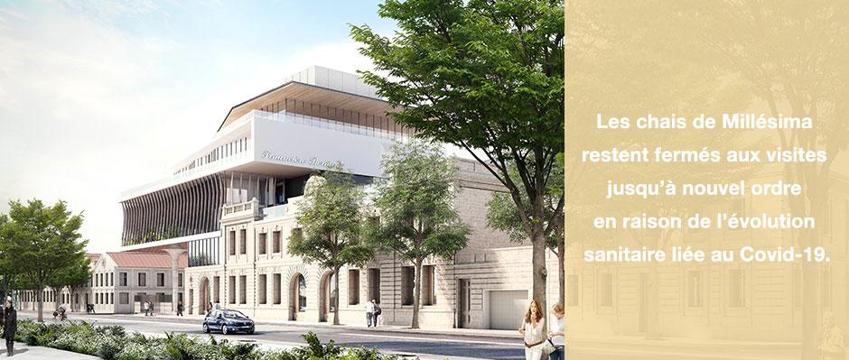 Les Chais de Millésima se rénovent jusqu'à Décembre 2019. Réouverture au public au début de l'année 2020.