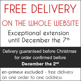 Free Delivery on the whole website Free delivery on one order to one address