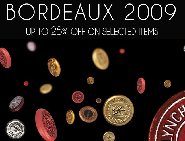 Limited Time Bordeaux 2009 Offer